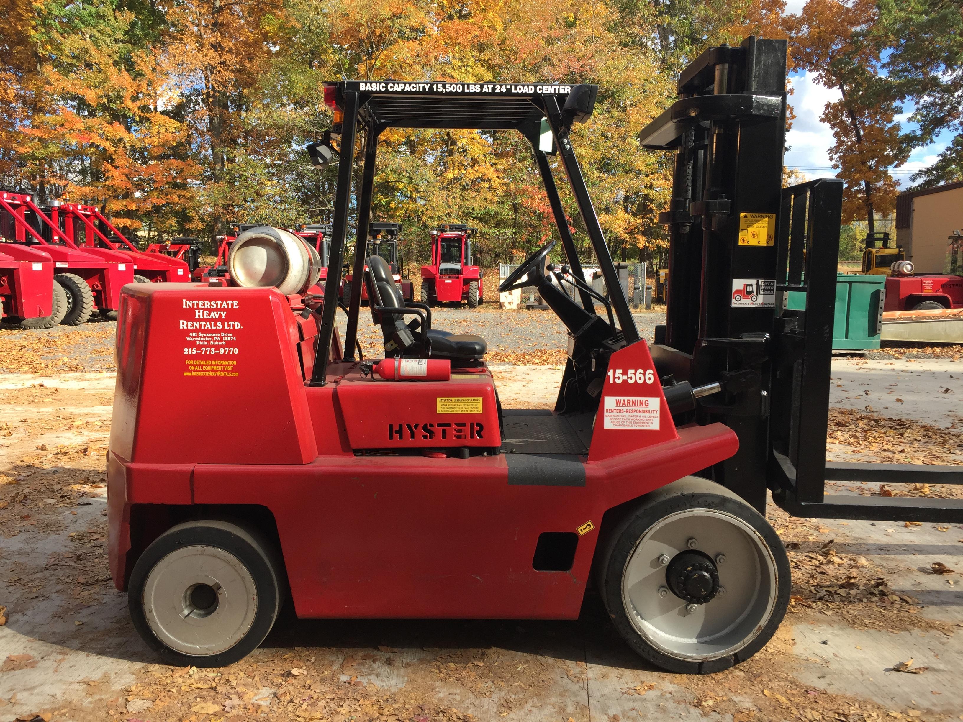15-566 Hyster S155XL | Interstate Heavy Rentals