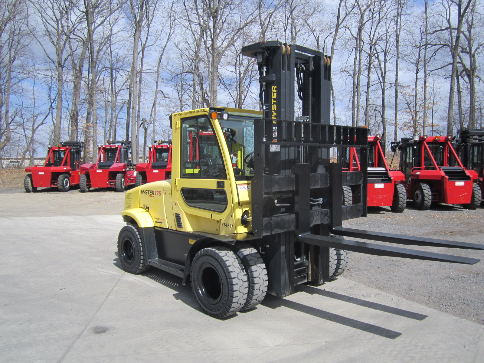 17 661 Hyster H175ft Interstate Heavy Rentals Forklift Wiring Diagram Shifter 17500 Lb Capacity